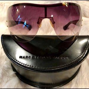 Marc Jacobs Frameless Tortoise Wrap Sunglasses